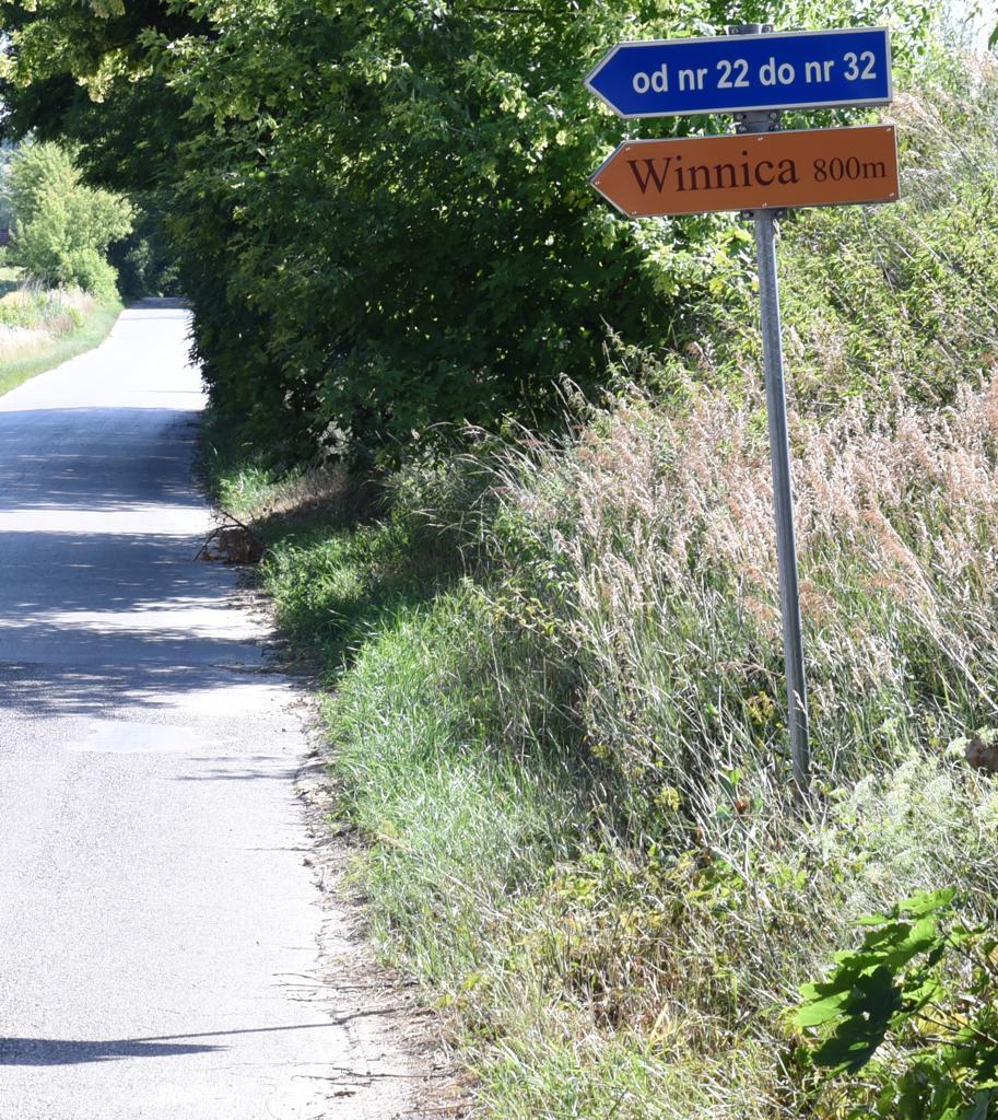 winnica-knapow-gmina-cmielow-znak-drogowskaz